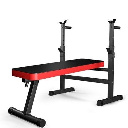 舉重床 臥推架家用健身器材杠鈴套裝男士臥推凳深蹲架子多功能折疊舉重床 現貨快出