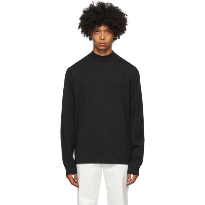 Acne Studios 黑色有机棉小高领长袖 T 恤