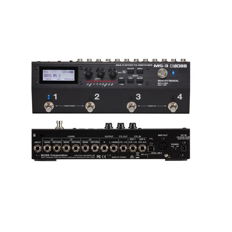 Boss MS-3 多重效果器切換器/效果器迴路切換踏板 公司貨【宛伶樂器】