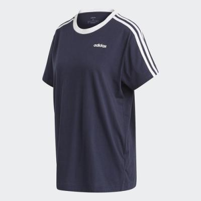 ADIDAS 休閒 運動 短袖 上衣 女款 藍 FN5778 3-STRIPES ESSENTIALS