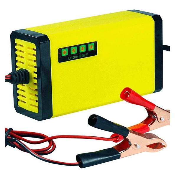 電瓶充電器 12V20AH摩托車機車電瓶反接短路保護電量顯示充電器蓄電池igo