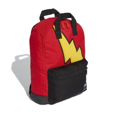 adidas 後背包 Pokemon Backpack 男女款 愛迪達 寶可夢 皮卡丘 閃電 外出 紅 黑 GE1207