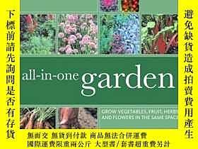 二手書博民逛書店All-in-One-Garden:罕見Grow Vegetab