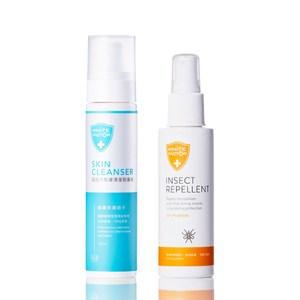白因子防蚊液(派卡瑞丁)100ml+肌膚清潔防護液100ml