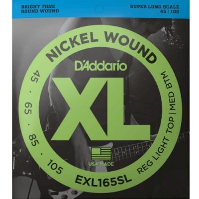 DAddario EXL165SL 45-105 加長型貝斯四弦套弦