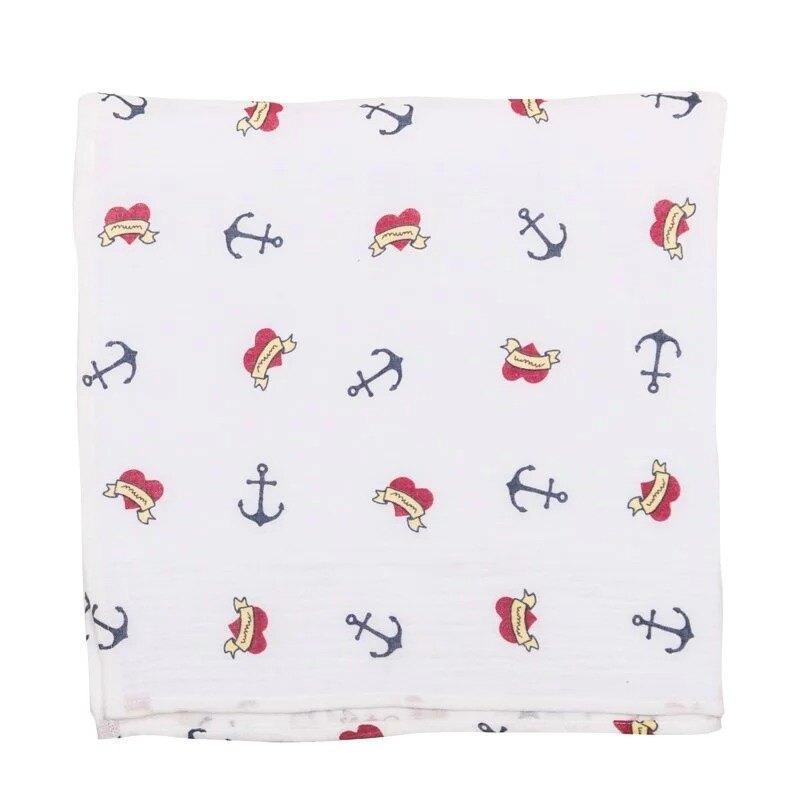 BabyBites 西班牙鯊魚咬一口 嬰兒純棉透氣包巾 船錨★衛立兒生活館★05011778