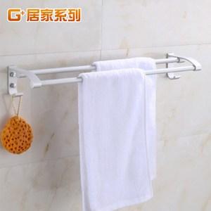【G+居家】太空鋁雙桿毛巾架-60公分