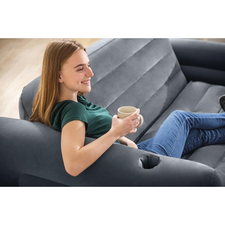 一露遊你 INTEX 66552 送充氣枕 新款 二合一充氣沙發床 折疊沙發床 空間魔術 收納 雙人沙發