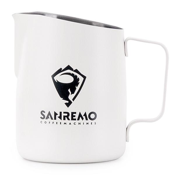金時代書香咖啡 Tiamo 斜口拉花杯 650cc 尖口設計 義大利 SANREMO 品牌合作款 HC7110W-S