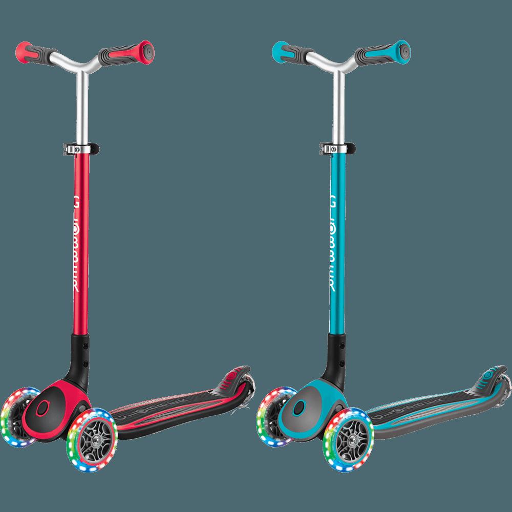 GLOBBER 2合1三輪折疊滑板車大師版(LED發光前輪)
