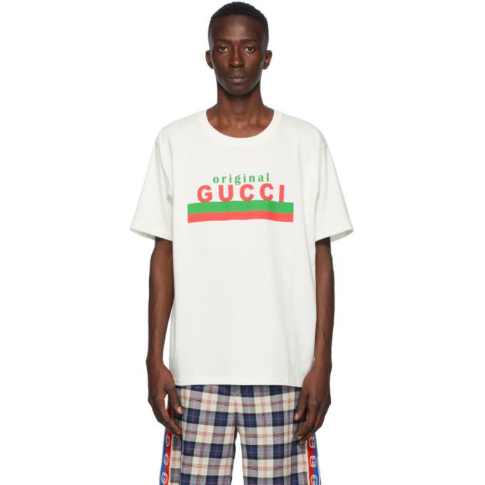 "Gucci 灰白色""Original Gucci"" T 恤"
