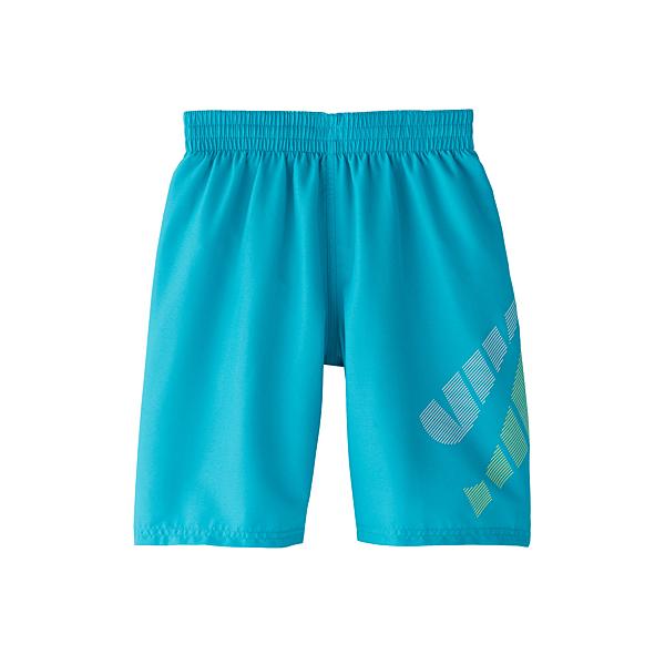 NIKE SWIM LOGO男孩8吋海灘褲-(藍綠)