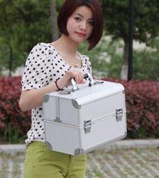 大號專業化妝箱化妝包化妝盒收納盒化妝工具多層帶鎖雙開手提箱