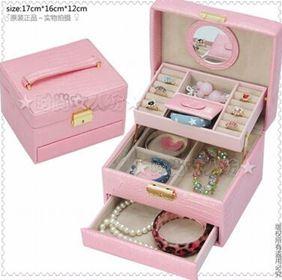新品 姐妹花首飾盒 半自動首飾收納盒 飾品盒