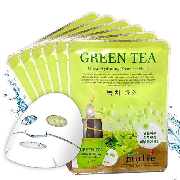 malie 綠茶調理修護面膜10入-綠茶 20ml