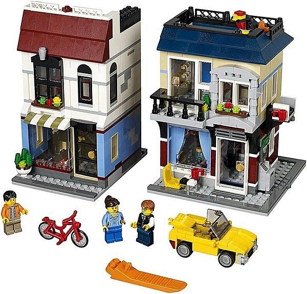 LEGO 樂高 創作者 自行車商店和咖啡廳31026建築玩具