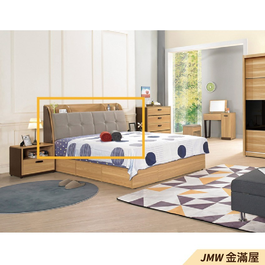 標準雙人5尺 床頭片 床頭櫃 單人床片 貓抓皮 亞麻布 貓抓布金滿屋-sh197-2