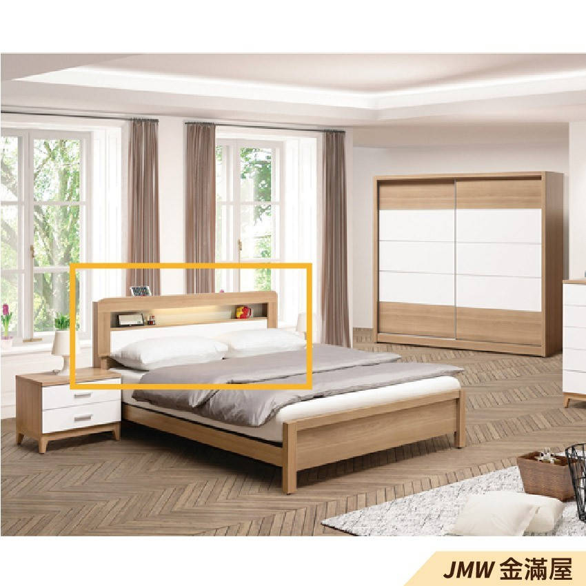標準雙人5.4尺 床頭片 床頭櫃 單人床片 貓抓皮 亞麻布 貓抓布金滿屋-sh203-4