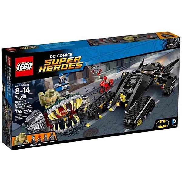 樂高LEGO 超級英雄系列 76055 Batman Killer Croc Sewer Smash