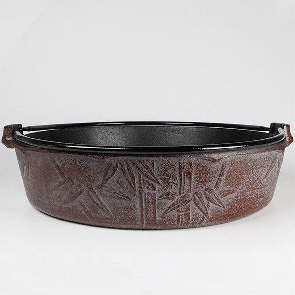 日本鑄鐵鍋南部鐵器 寶星堂 竹 鑄鐵壽喜燒鍋 26cm 提把鍋 平底鍋 IH