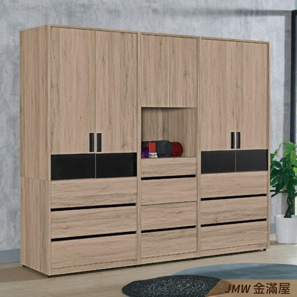 [免運]220cm衣櫃 尺衣櫥金滿屋木心板 推門滑門開門 衣服收納 免組裝-sh150-3