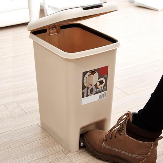 川為腳踏式垃圾桶家用有蓋衛生間客廳臥室廚房帶蓋腳踩大號垃圾筒