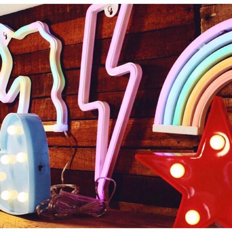 純.燈飾熱賣**多款霓虹燈ins造型霓虹燈拍照道具拍照背景演唱會必備房間裝飾演唱會舉牌應援燈情人節佈