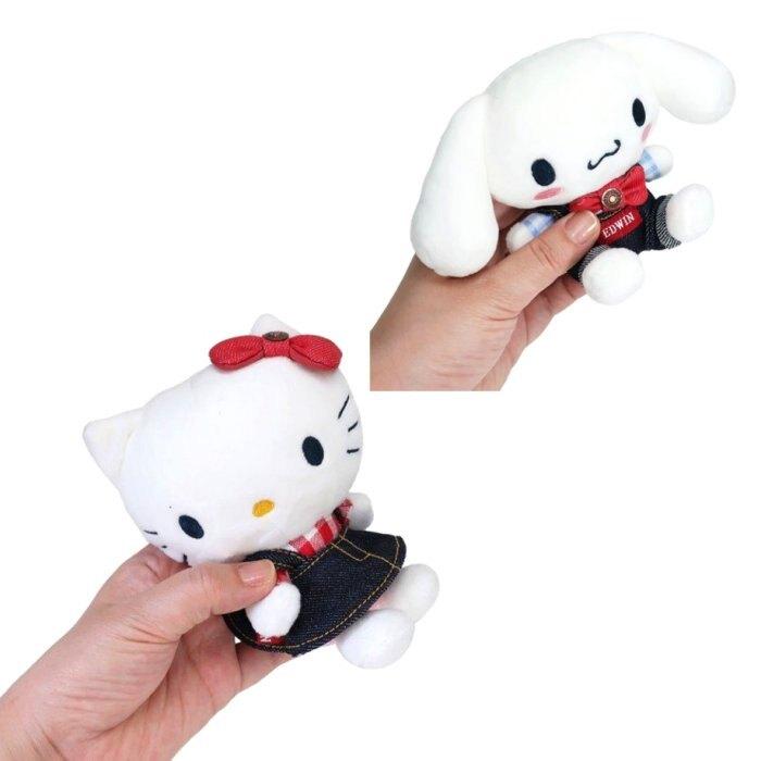 絨毛玩偶 三麗鷗 KITTY 美樂蒂 大耳狗 EDWIN聯名款 娃娃 日本進口正版授權