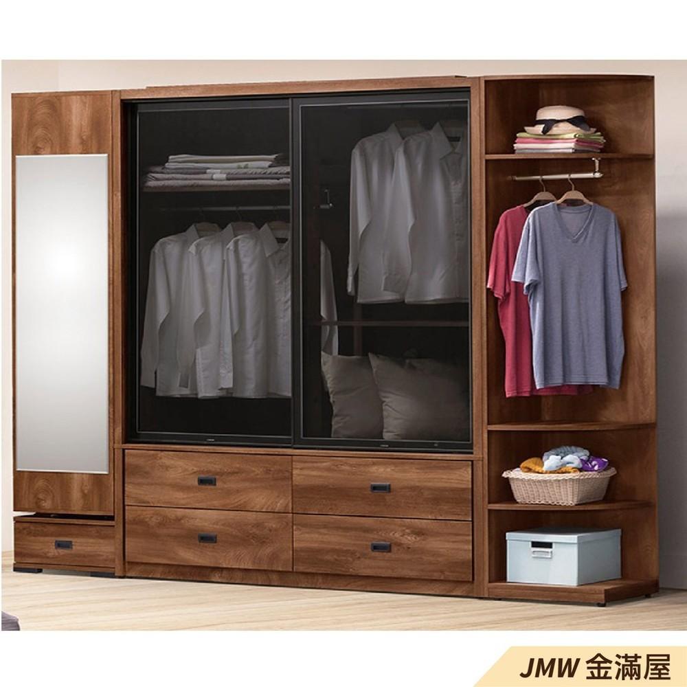 240cm衣櫃 尺衣櫥金滿屋木心板 推門滑門開門 衣服收納 免組裝-sh182-2