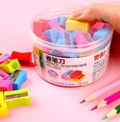削鉛筆器 SG475 單孔小卷 紅黃藍綠 兒童小學生 削鉛筆機小 小型手動塑料 迷你削鉛筆 批發