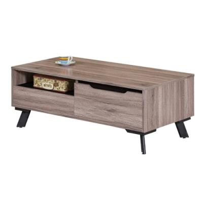 【AT HOME】現代設計4尺灰橡色收納茶几/客廳桌/矮桌/咖啡桌(巴菲特)