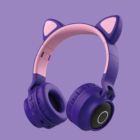限時免運-現貨 新款可愛貓耳朵耳機 頭戴式無線耳機 BT-028C爆款耳機