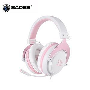 【綠蔭-免運】賽德斯SADES Mpower Angel Edition 玫瑰金天使限量版 耳機麥克風