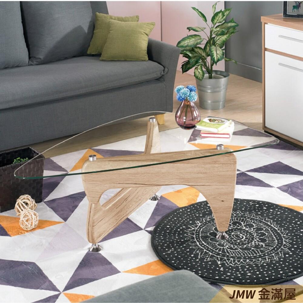 寬120cm客廳茶几 北歐工業風桌金滿屋實木原木玻璃 大理石長方桌 邊几 圓桌-sh470-2