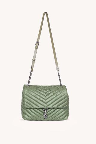 Edie Nylon Jumbo Flap Shoulder Bag