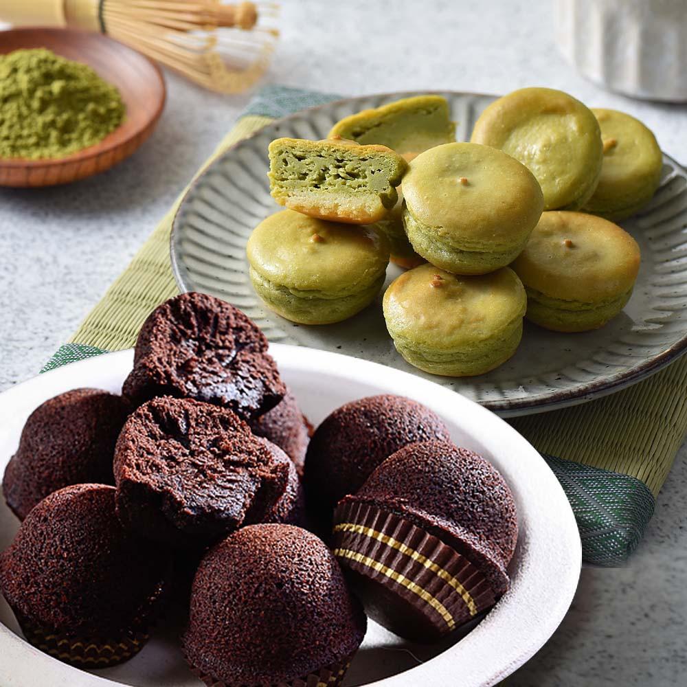 【大溪杏芳食品】抹茶乳酪球一盒32入+巧克力布朗尼一盒12入(含運)