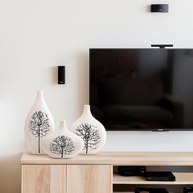 家居客廳花瓶擺件現代花器擺設陶瓷花瓶花插結婚禮物白樺樹YJT
