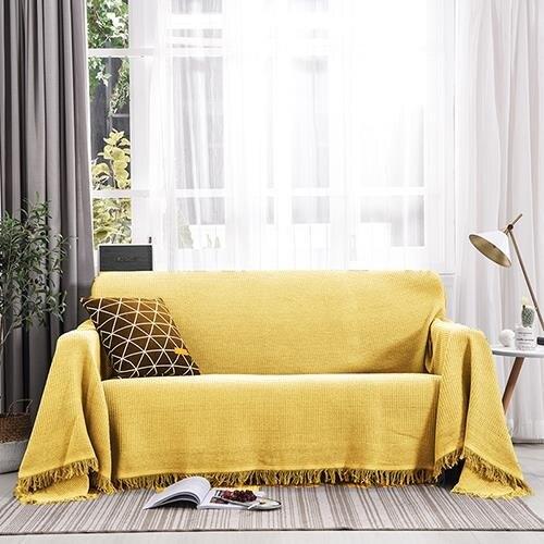 [快速出貨] 北歐沙發蓋布簡約沙發巾全蓋通用沙發套罩全包萬能沙發墊蓋巾   七色堇 元旦 交換禮物