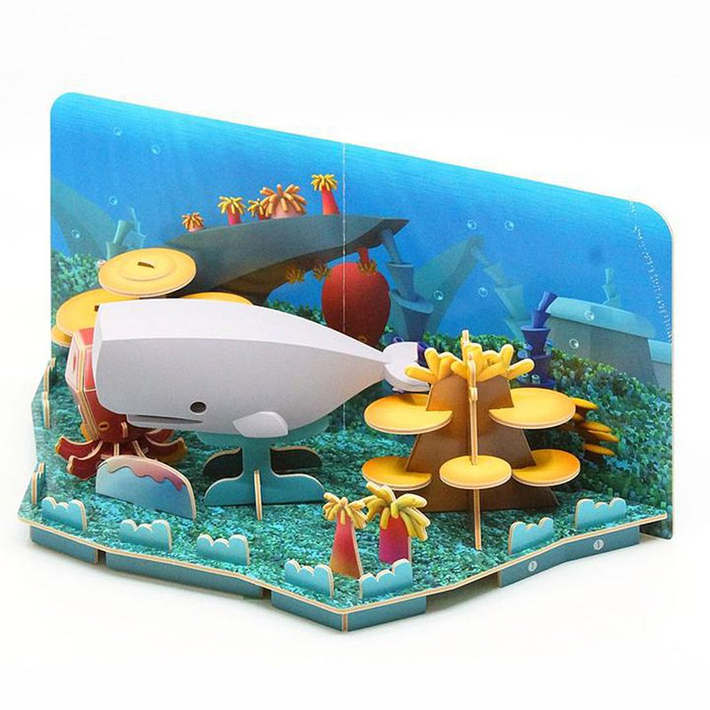Halftoys Ocean 抹香鯨 STEAM教育玩具