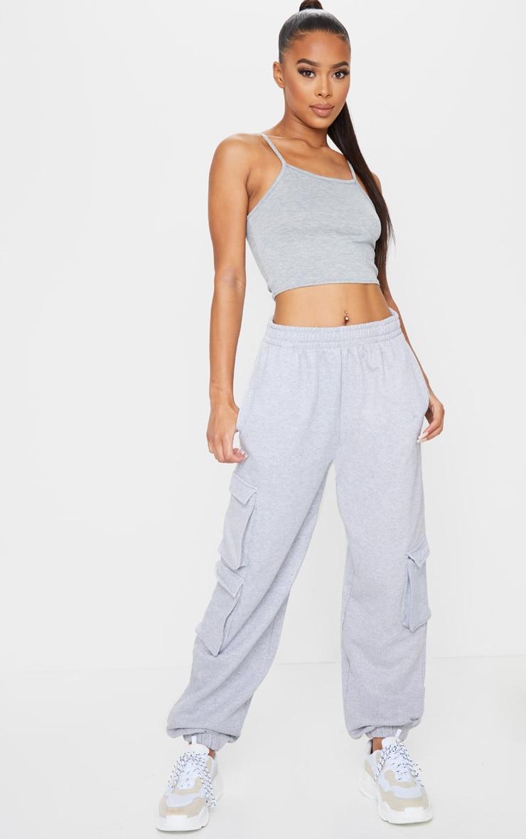 Grey Marl Utility Sweat Track Pants