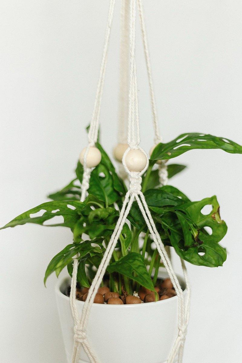 絨球Macrame Plants衣架