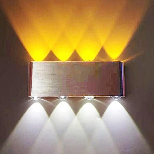 LED創意鋁材壁燈現代簡約酒店臥室床頭壁燈客廳裝飾壁燈過道燈【618店長推薦】