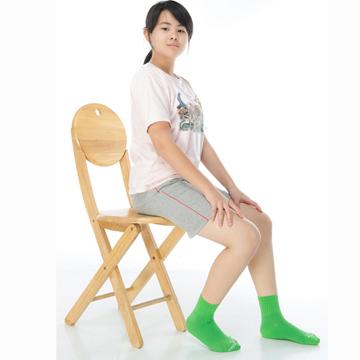 【KEROPPA】可諾帕7~12歲學童專用吸濕排汗短襪x3雙C93007-B芥末綠