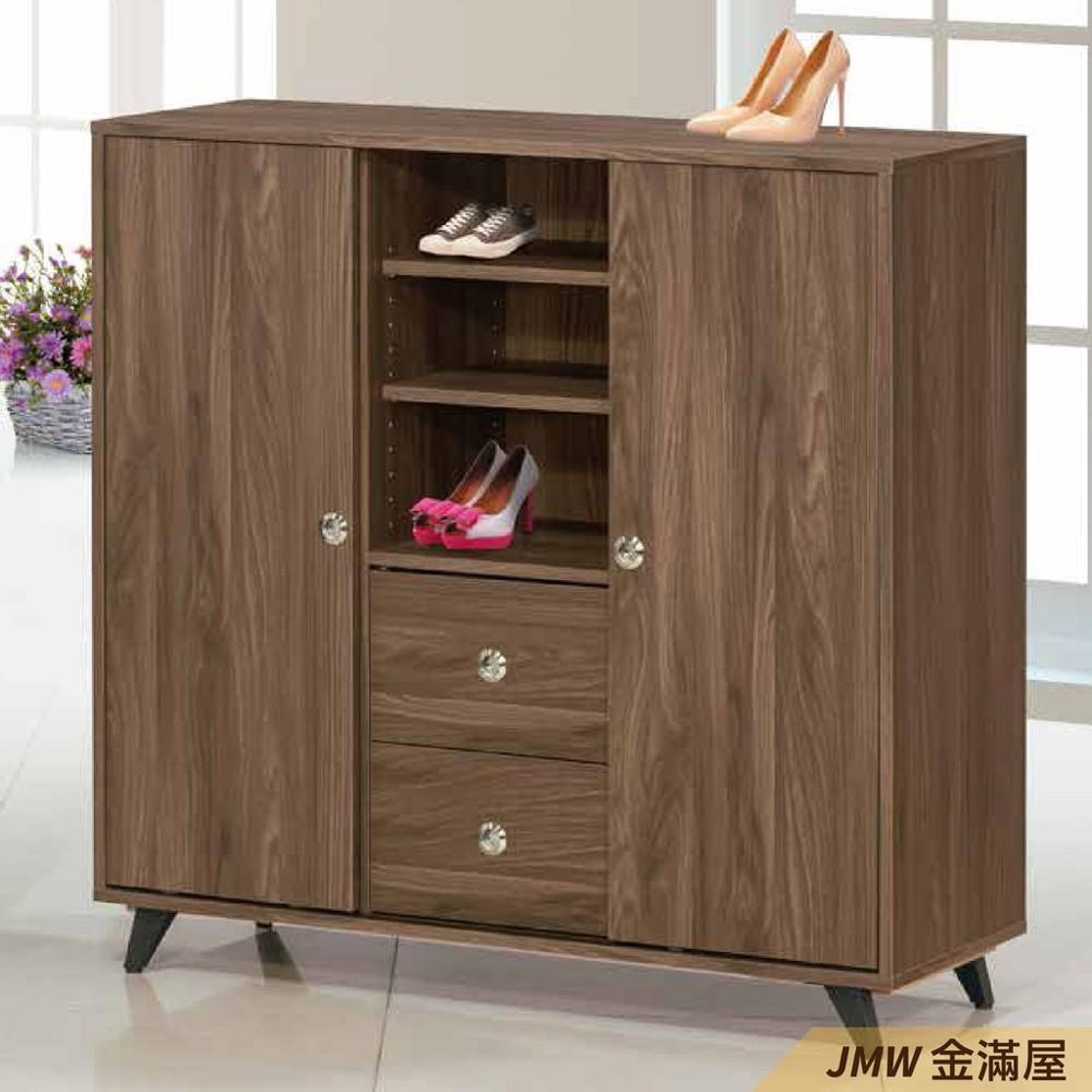 110cm鞋櫃 高矮櫃 坐式鞋櫃椅 櫥櫃子 玄關雙面櫃金滿屋整理收納櫃 鞋架-r405-4 -