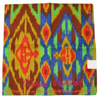 Vivienne Westwood  抽象星空塗鴉 帕領巾(多彩-黃藍)