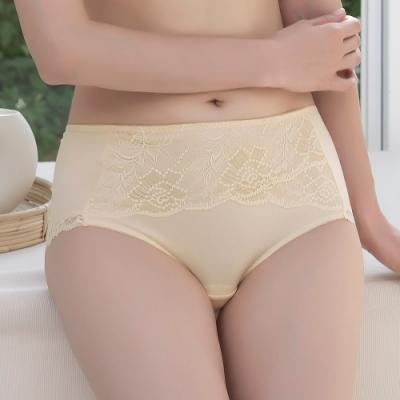 金華歌爾 寵愛 M-3L中高腰三角褲(花粉黃) 絲蛋白素材 親膚保溼 舒適無痕