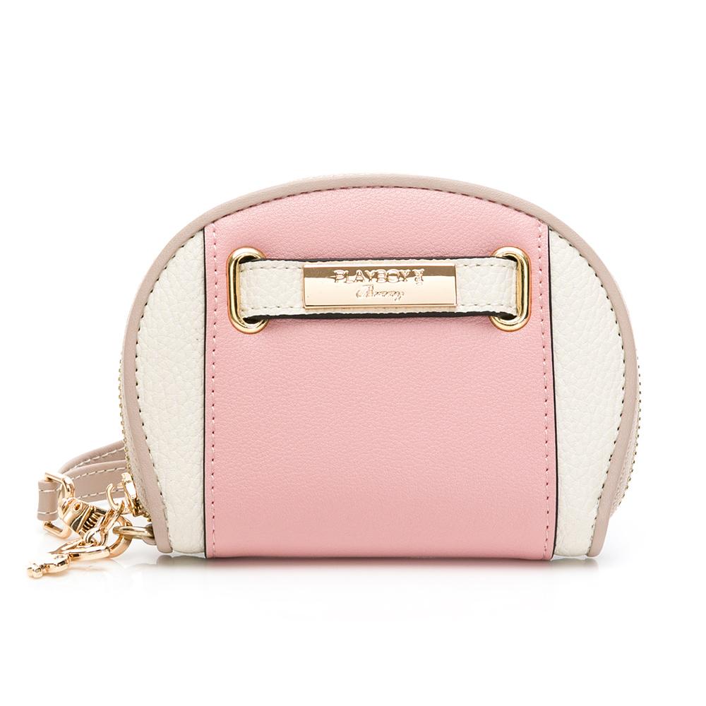 PLAYBOY-  零錢包-附手挽帶 摩登都市系列 -粉色