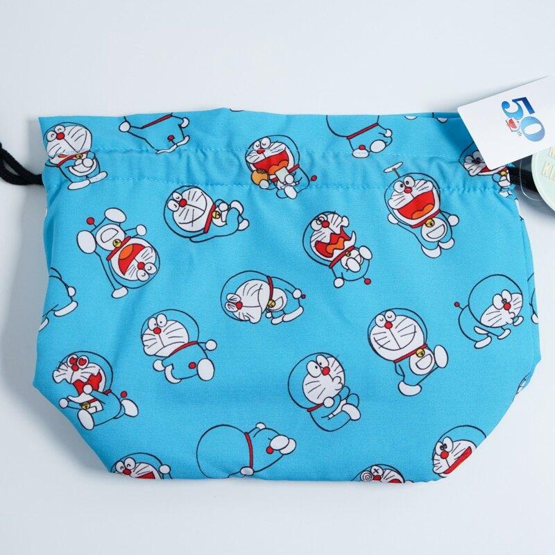 哆啦a夢50週年紀念保溫保冷束口袋 哆啦a夢 束口袋 保冷袋 保溫袋 藍色 日本進口