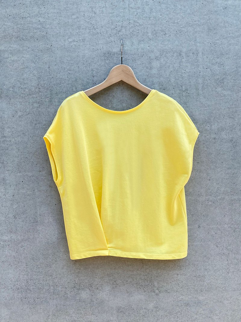 簡約設計上衣(黃)