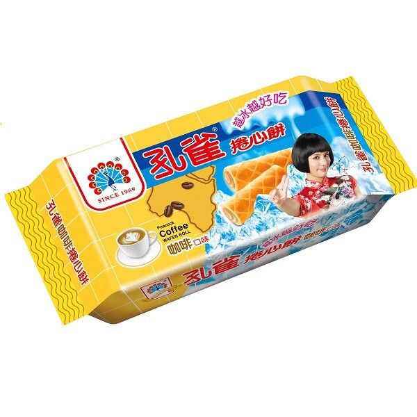 孔雀 捲心酥-咖啡 63g 【康鄰超市】